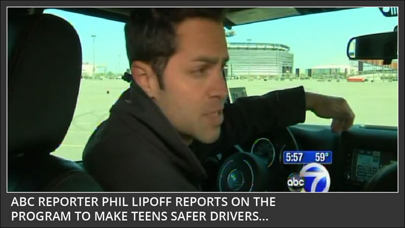 abc reporter Phil Lipoff reports on the program to make teens safer drivers - drive safer