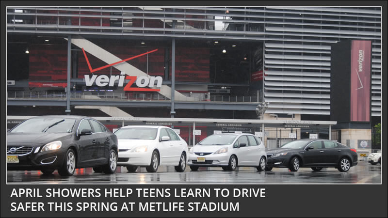 april showers help teens learn to drive safer this spring at metlife stadium