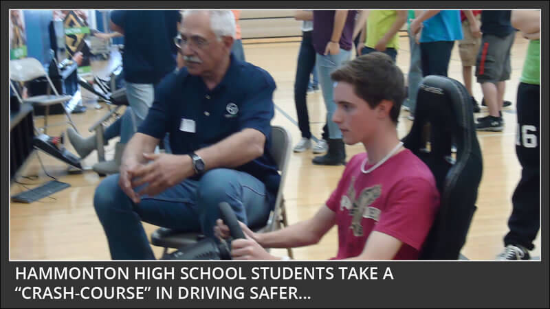 hammonton high school students take a crash course in driving safer